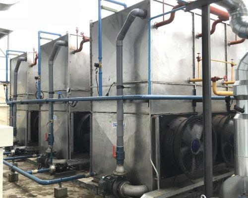 Evaporative condenser